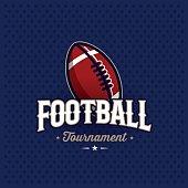 Football emblem blue