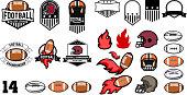 football emblems design elements