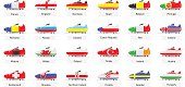 football euro 2016 competitor countries icons vector