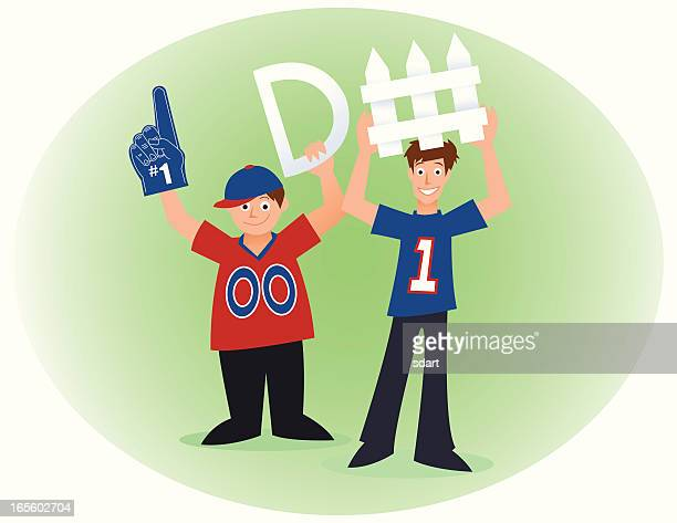 football fans - letter d stock illustrations, clip art, cartoons, & icons