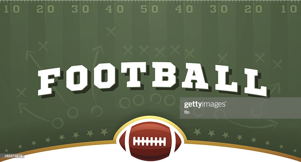 Football Field Background : stock illustration