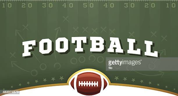stockillustraties, clipart, cartoons en iconen met football field background - sporting term