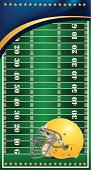 Football Field Background with Helmet