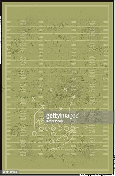 Football Field Background with Play