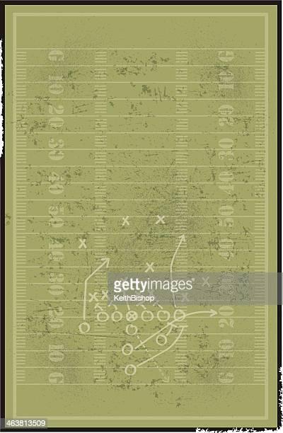 フットボールフィールドの背景にプレイ - アメリカンフットボール場点のイラスト素材/クリップアート素材/マンガ素材/アイコン素材