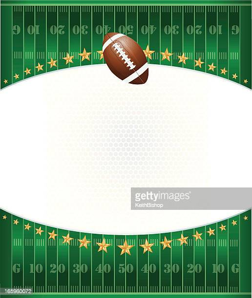 football field background with stars - american football ball stock illustrations
