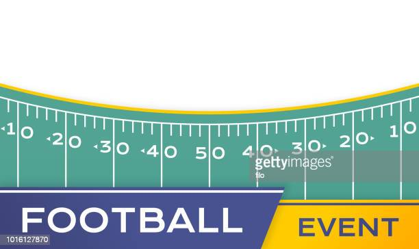 football field border - team sport stock illustrations