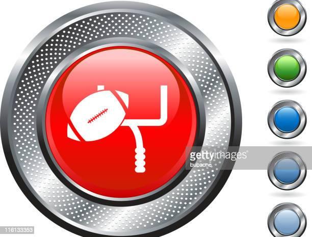 フットボールフィールドの目標ロイヤリティフリーのベクターアートにメタリックのボタン - アメリカンフットボールのフィールドゴール点のイラスト素材/クリップアート素材/マンガ素材/アイコン素材