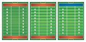 Football field in three design