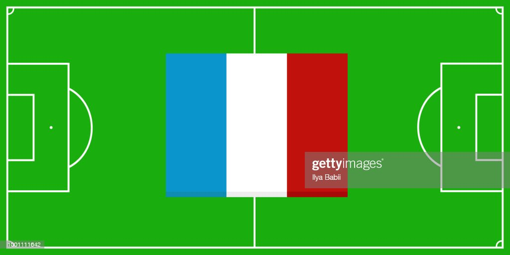 football field. soccer field. france champion.vector