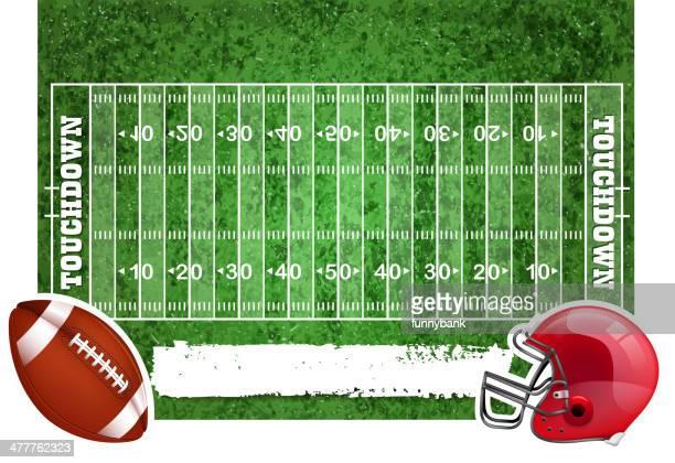 football field - american football ball stock illustrations