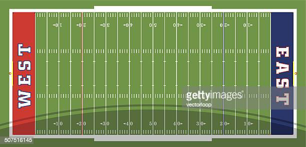football field vector - football field stock illustrations, clip art, cartoons, & icons