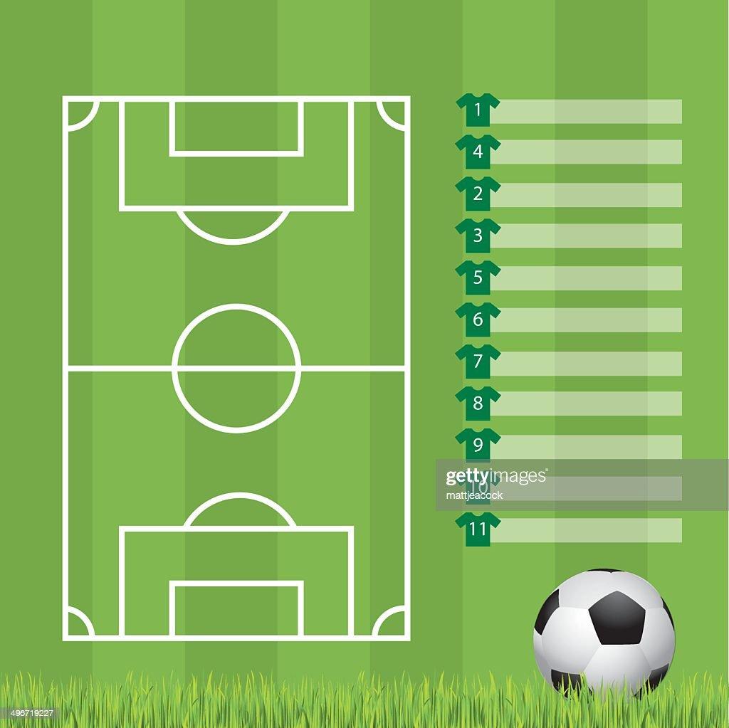 Football formation template : stock illustration