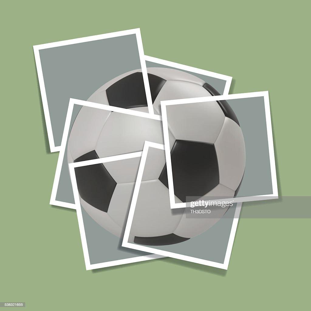 Football frame,Vector symbol