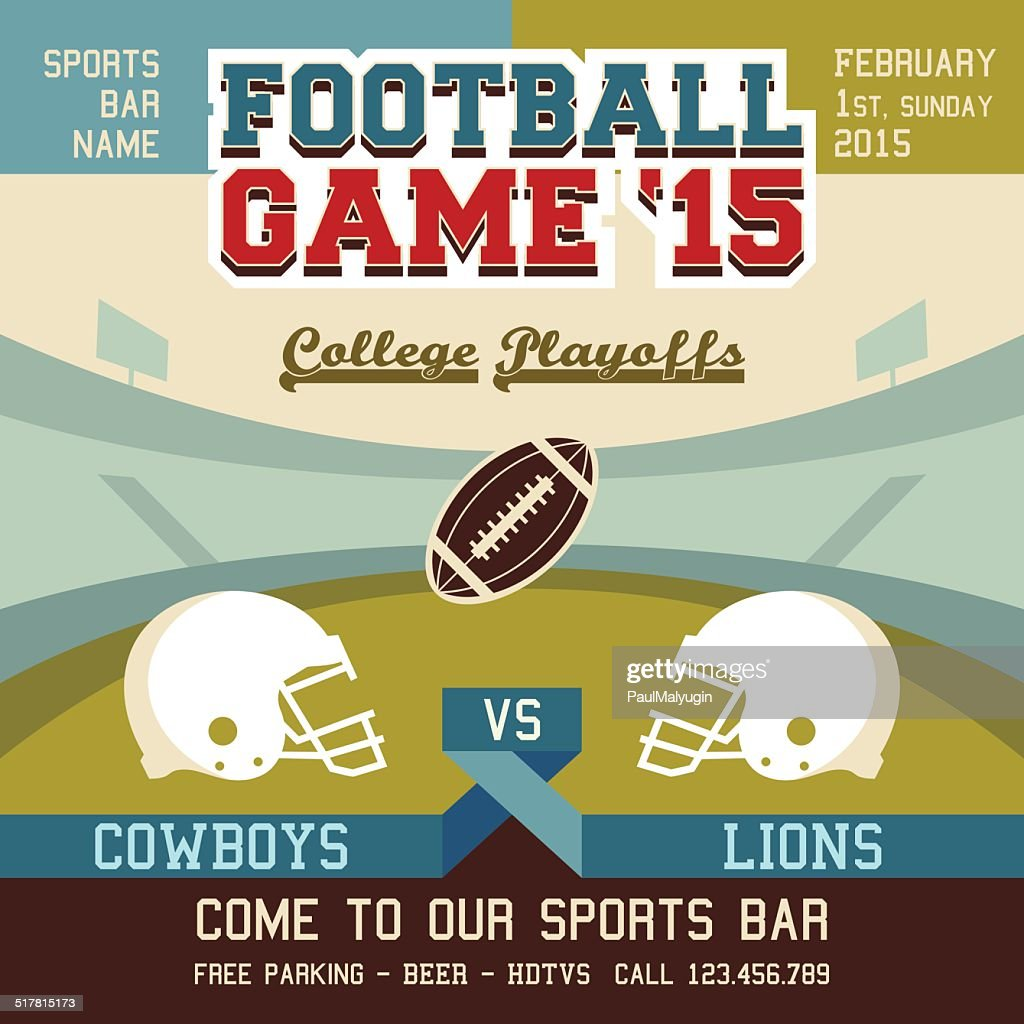 Football game college playoffs