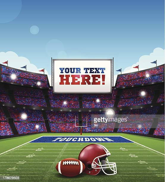 football game - football field stock illustrations, clip art, cartoons, & icons