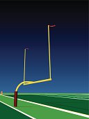 Football Goal Post Background