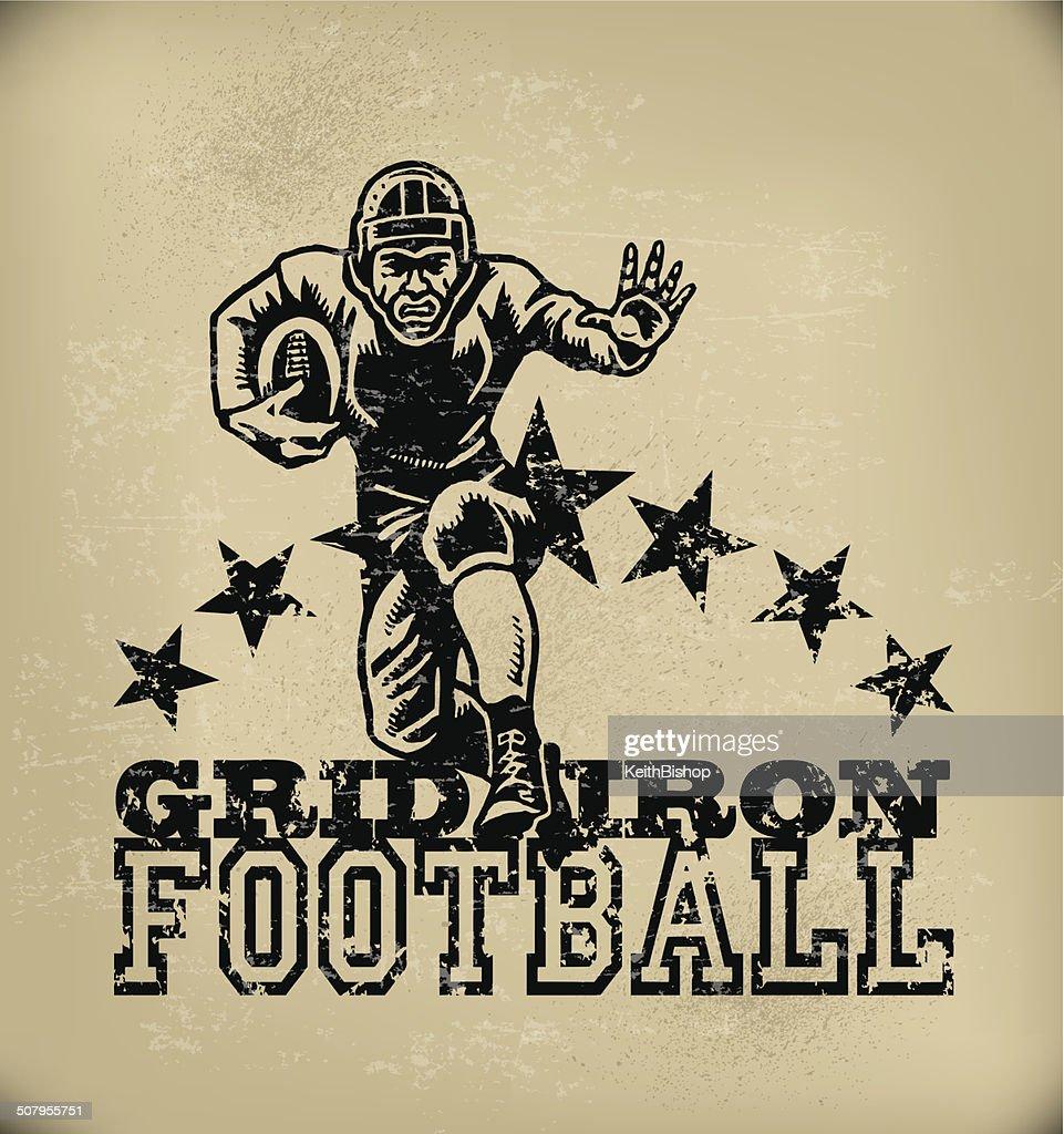 Football Graphic - Retro Grunge