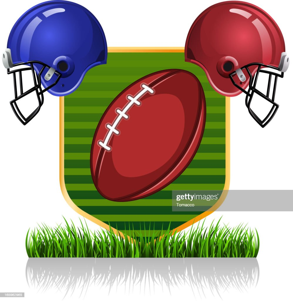 Football grass helmet