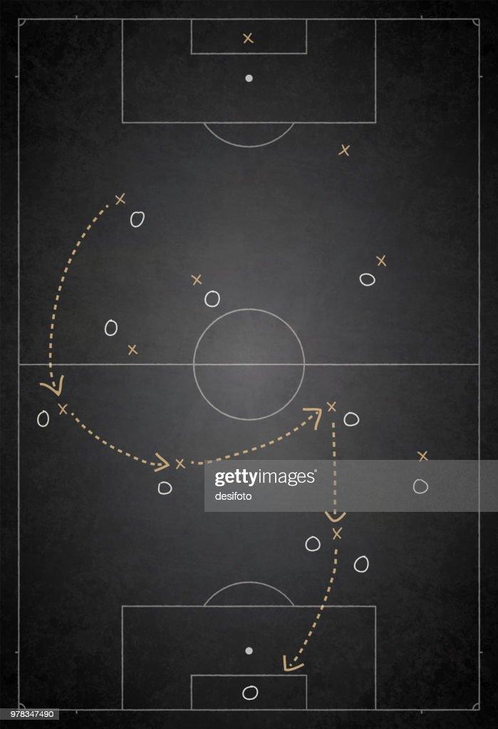 Football Ground Field Vector Illustration Of Game Plan Vector Art