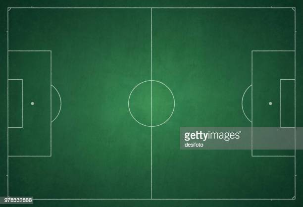 football ground / field vector illustration - football field stock illustrations, clip art, cartoons, & icons
