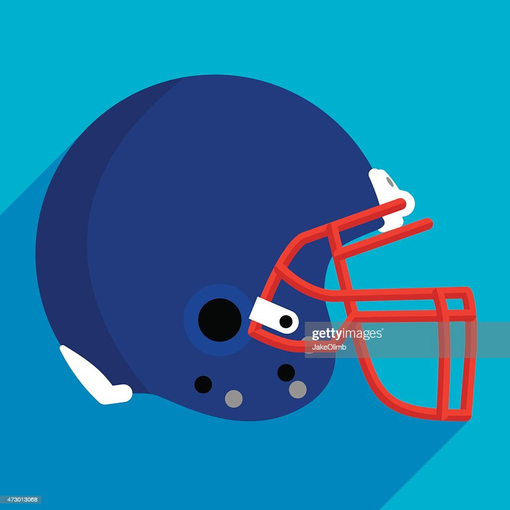 Football Helmet Flat