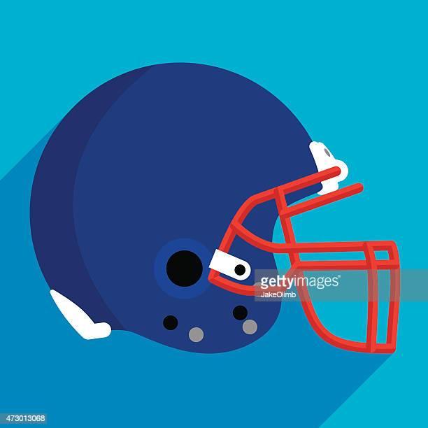 football helmet flat - football helmet stock illustrations