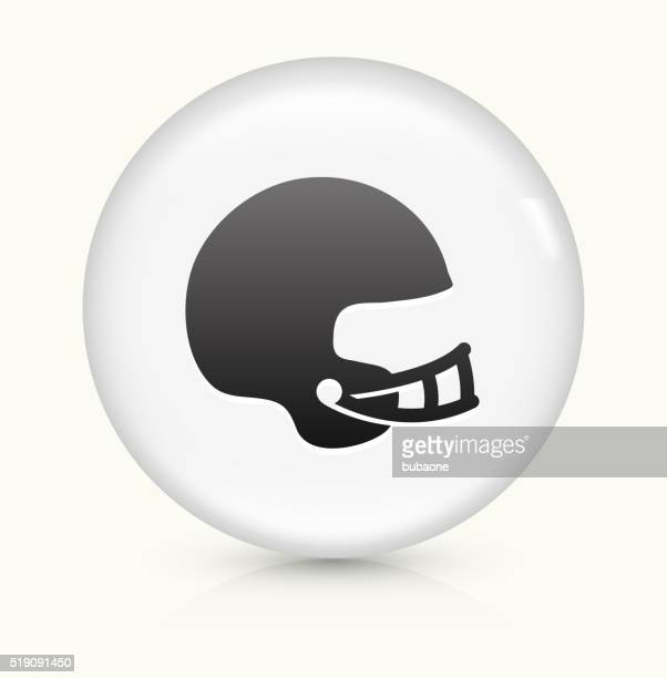 football helmet icon on white round vector button - safety american football player stock illustrations, clip art, cartoons, & icons