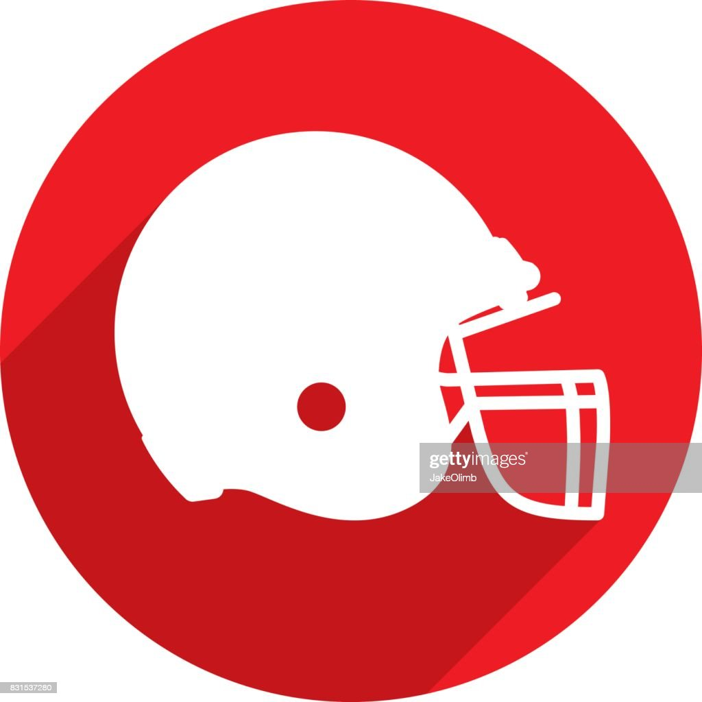 Football Helmet Icon Silhouette