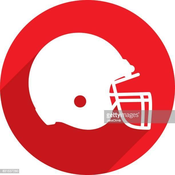 football helmet icon silhouette - football helmet stock illustrations