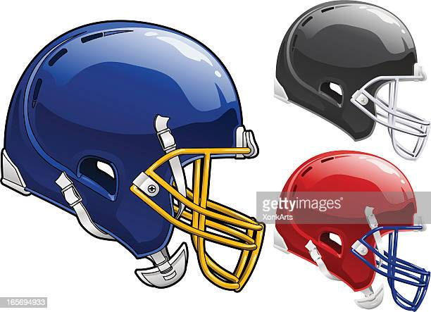 football helmet side - football helmet stock illustrations
