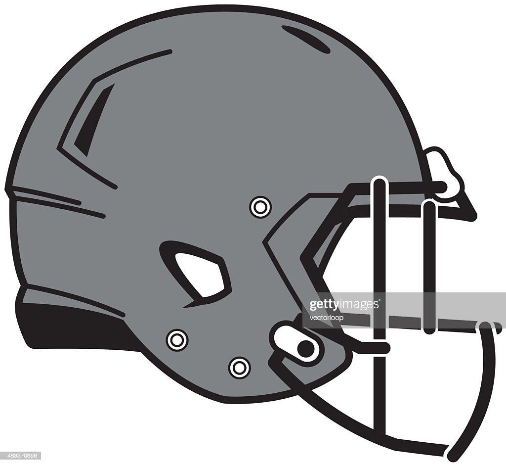 football helmet vector art getty images rh gettyimages com football helmet vector graphic football helmet outline vector
