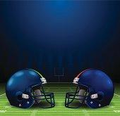 Football Helmets Background