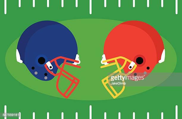 フットボールヘルメットヒット - アメリカンフットボールヘルメット点のイラスト素材/クリップアート素材/マンガ素材/アイコン素材