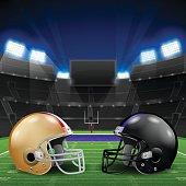 Football Helmets Stadium