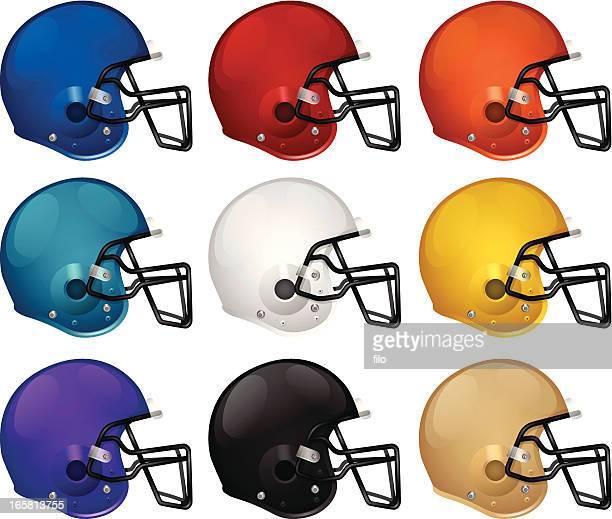 football helmets - football helmet stock illustrations