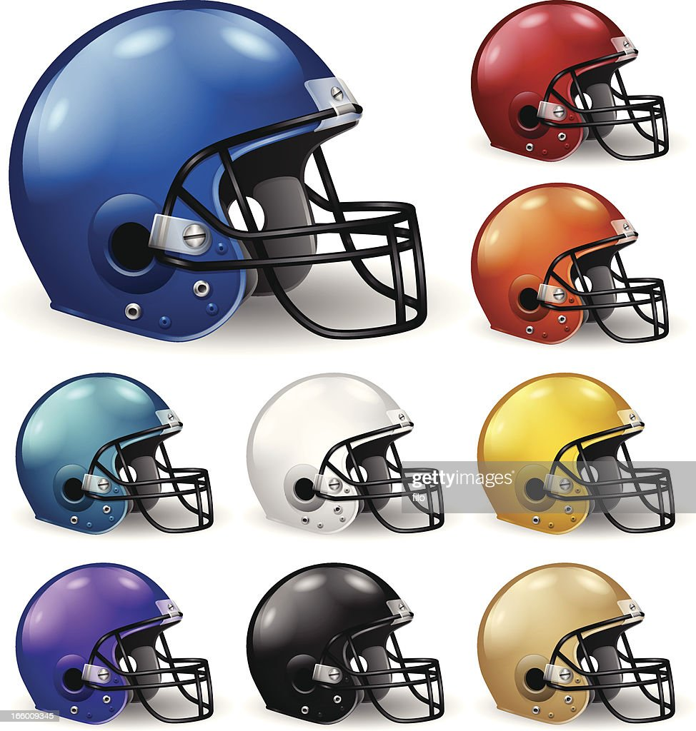Football Helmets : stock illustration
