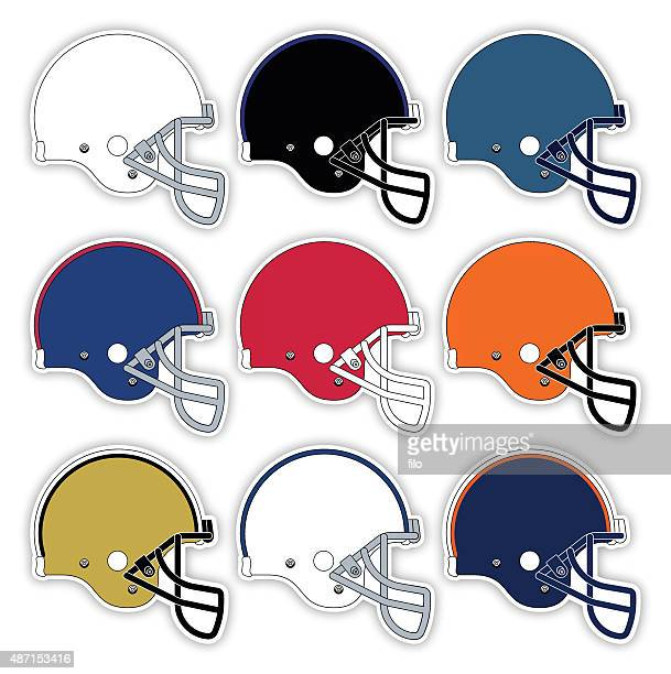football helmets - motorcycle helmet isolated stock illustrations, clip art, cartoons, & icons
