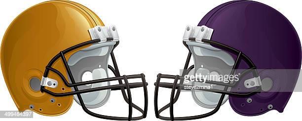 football helmets - high school stock illustrations, clip art, cartoons, & icons