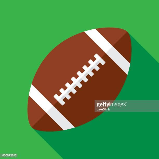 ilustrações, clipart, desenhos animados e ícones de ícone de futebol plana - football