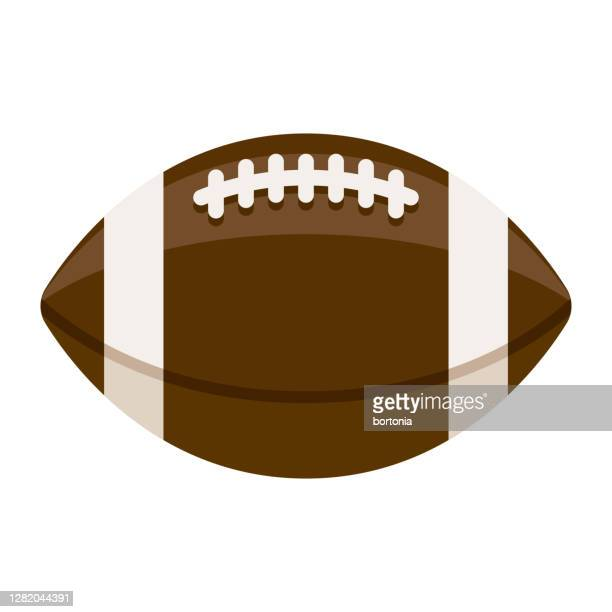 football icon on transparent background - american football ball stock illustrations