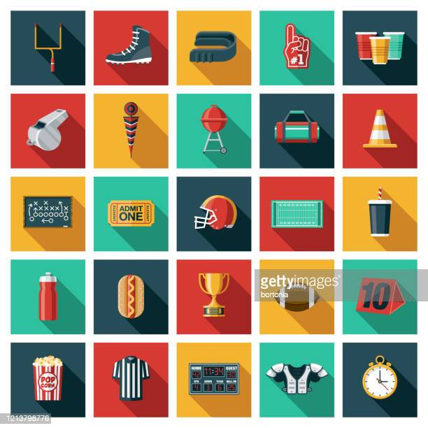 football icon set - whistle blackboard stock illustrations
