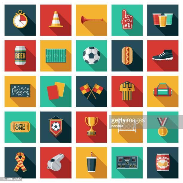 illustrations, cliparts, dessins animés et icônes de ensemble d'icônes football (soccer) - ligue professionnelle nord américaine de football
