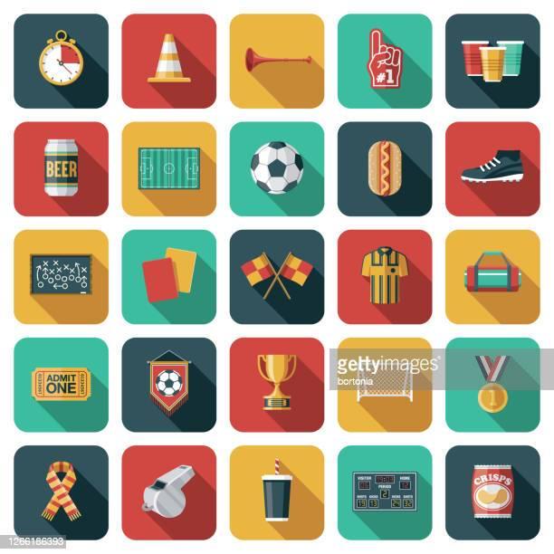 サッカーアイコンセット - ゴールポスト点のイラスト素材/クリップアート素材/マンガ素材/アイコン素材
