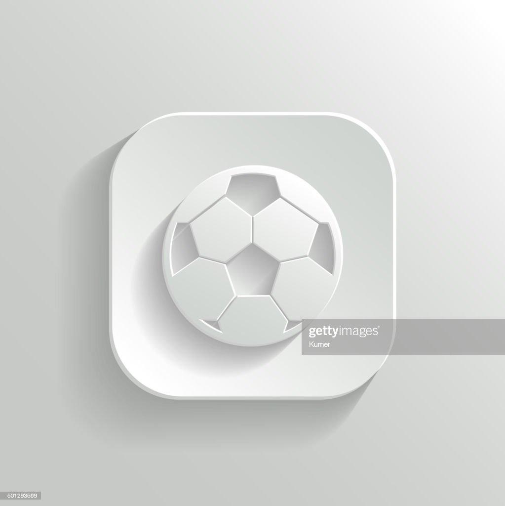 Football icon - vector white app button