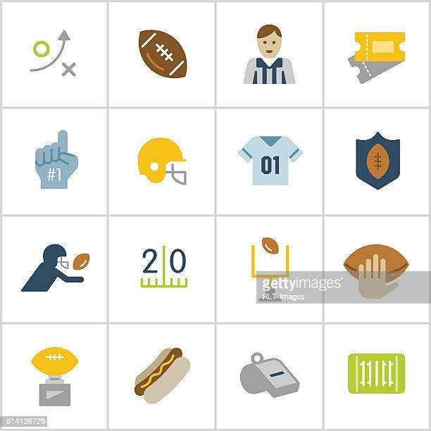 フットボールのアイコン—ポリシリーズ - アメリカンフットボールのフィールドゴール点のイラスト素材/クリップアート素材/マンガ素材/アイコン素材
