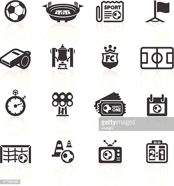football icons set 1 - football field stock illustrations, clip art, cartoons, & icons