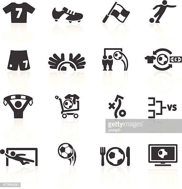 football icons set 2 - match sport stock illustrations, clip art, cartoons, & icons