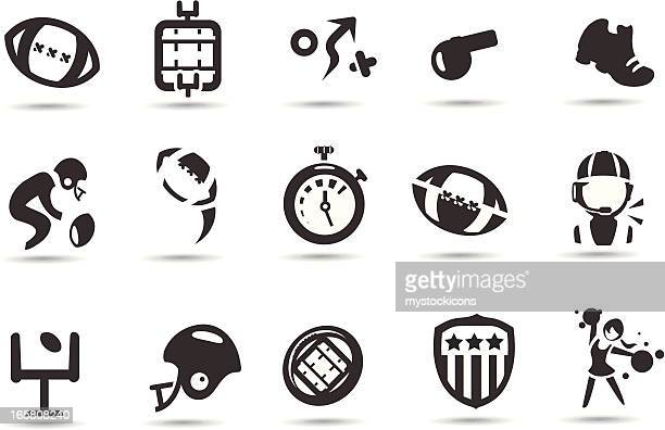 football icons - american football judge stock illustrations