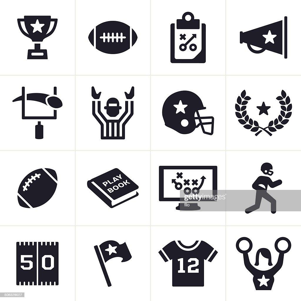 Football Icons : Stock Illustration